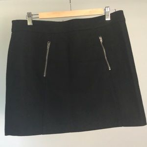 Gap black wool miniskirt Size 8